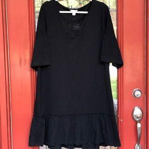 NWT Caslon Ruffle Sleeve Cotton Dress - Size L